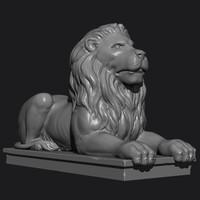 lion statue 3ds
