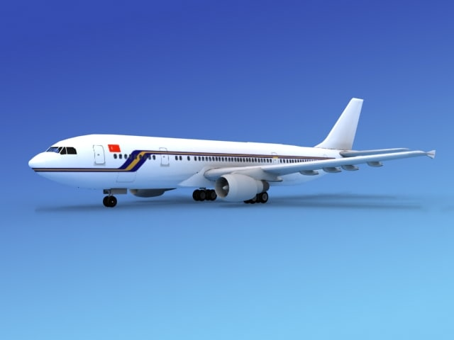 3d model of airline airbus a300 air