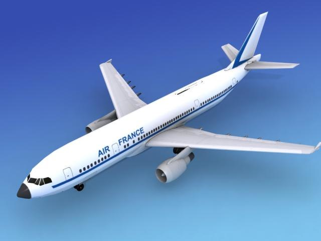 airline airbus a300 air france 3d model
