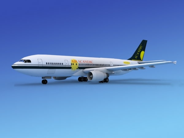 airline airbus a300 air 3d model