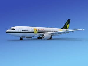 airline airbus a300 air 3d model