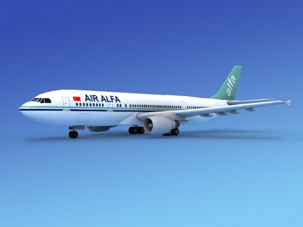 3d model of airline airbus a300