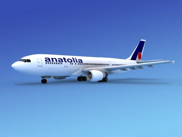 airline airbus a300 air 3d dxf