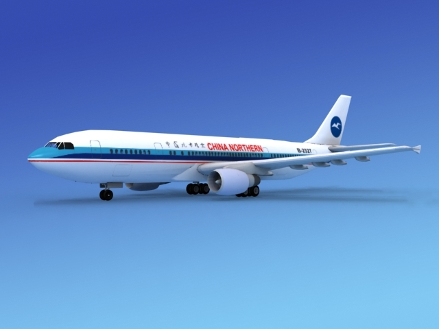 airline airbus a300 3d 3ds