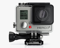 camera gopro hero3 black 3d model