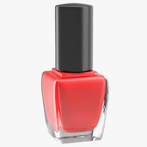 3d red nail polish model