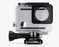 case gopro hero4 hero3 3d model