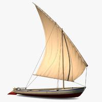 3d model sailing boat
