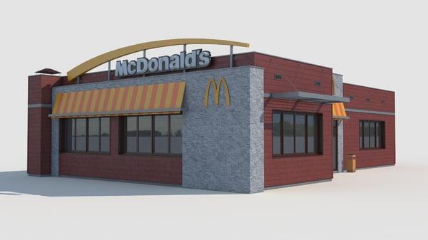 3d mcdonalds restaurant