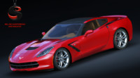 3d model chevrolet corvette c7 stingray