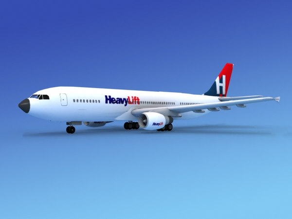 3d airline airbus a300 model