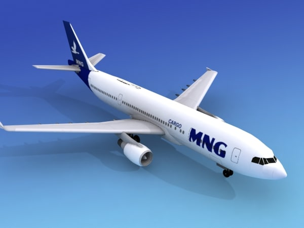 3d model airline airbus a300