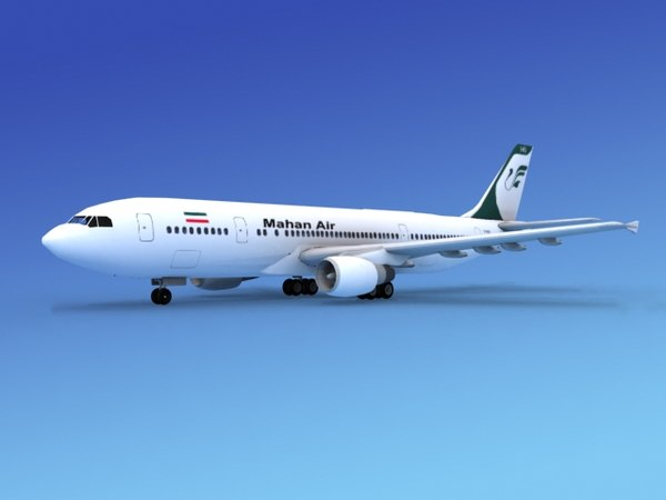 3d model airline airbus a300 air