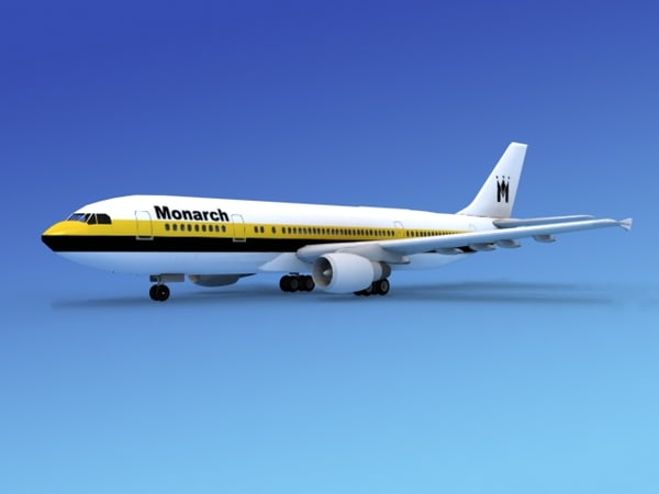 airline airbus a300 3d model