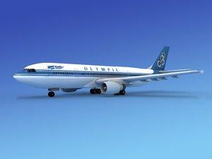 airline airbus a300 3d obj