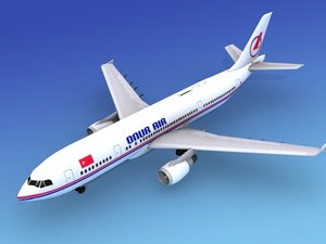 airline airbus a300 air 3d 3ds