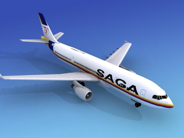 airline airbus a300 3d max