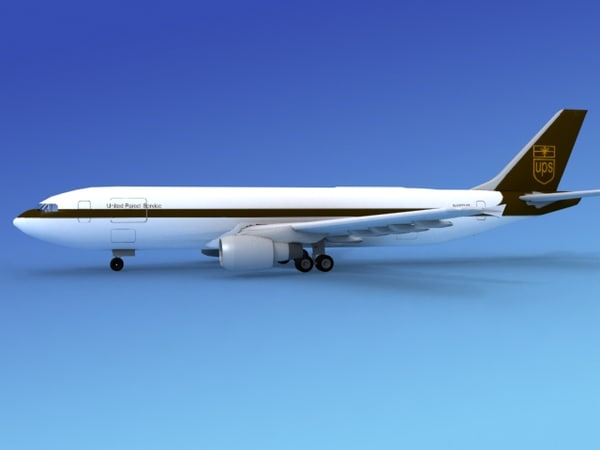 airline airbus a300 3d dxf
