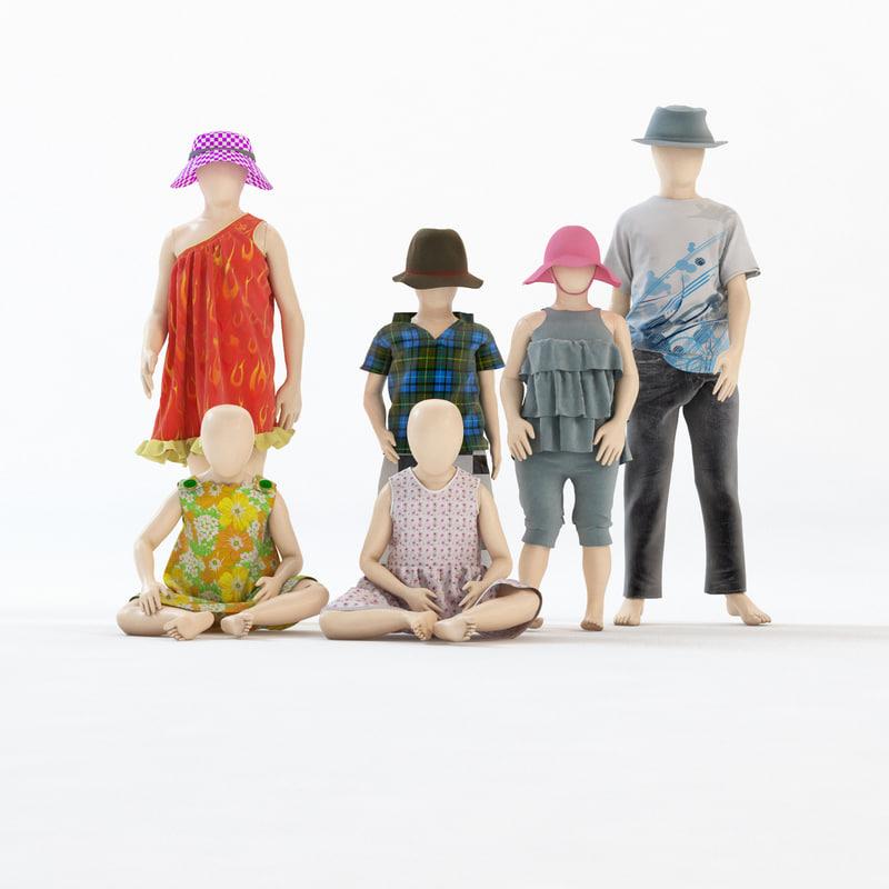 3d mannequin girl boy kids