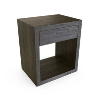 max hudson charcoal end table