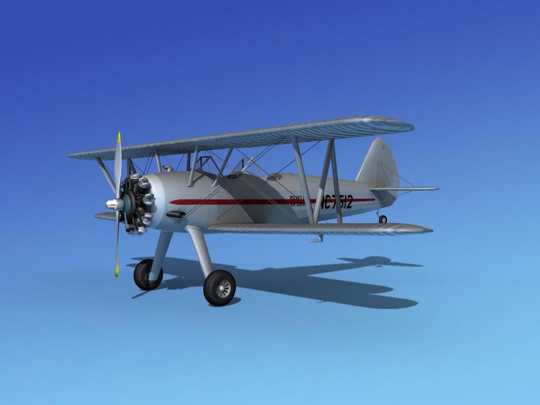 3d model pt-17 stearman