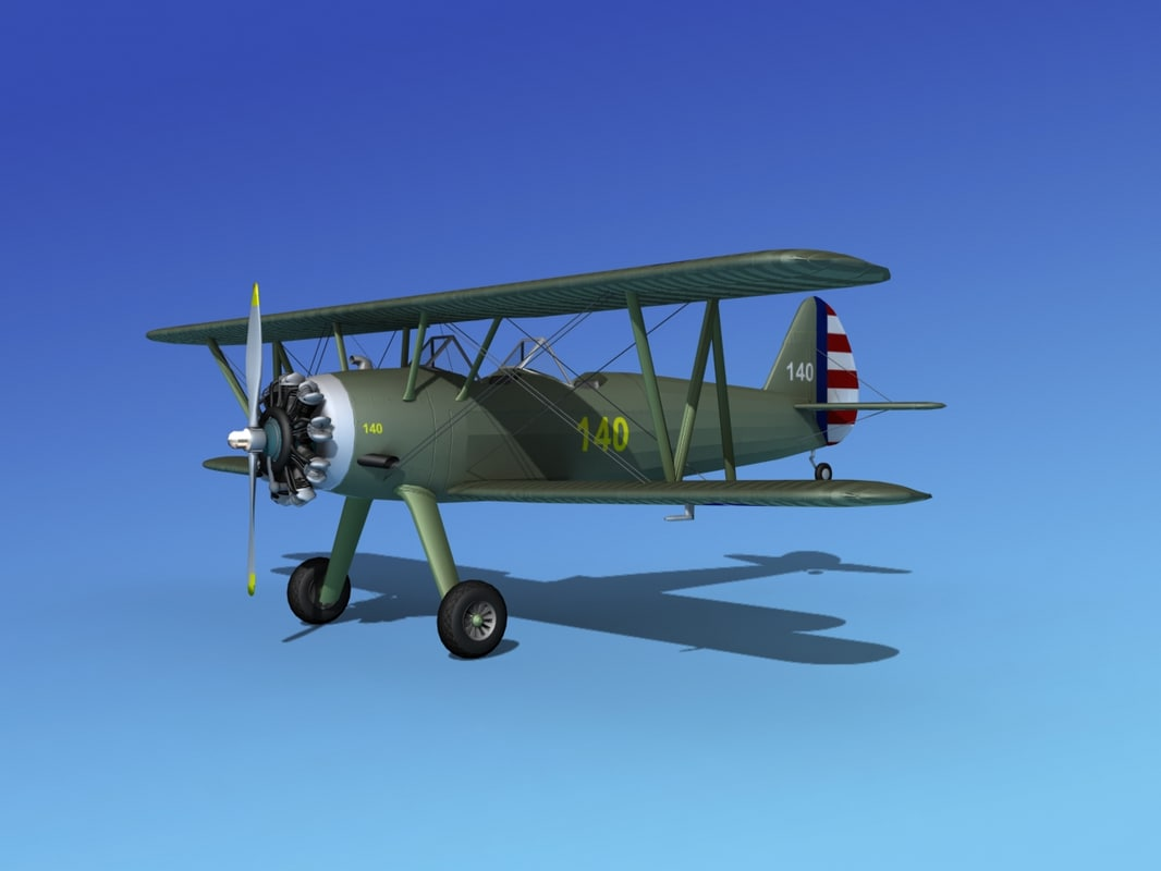 3d model of pt-17 stearman
