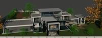 architecture house 3d model