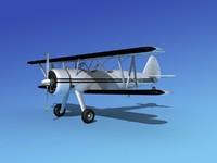 pt-17 stearman 3d model