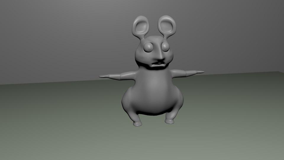 3d model cartoony mouse
