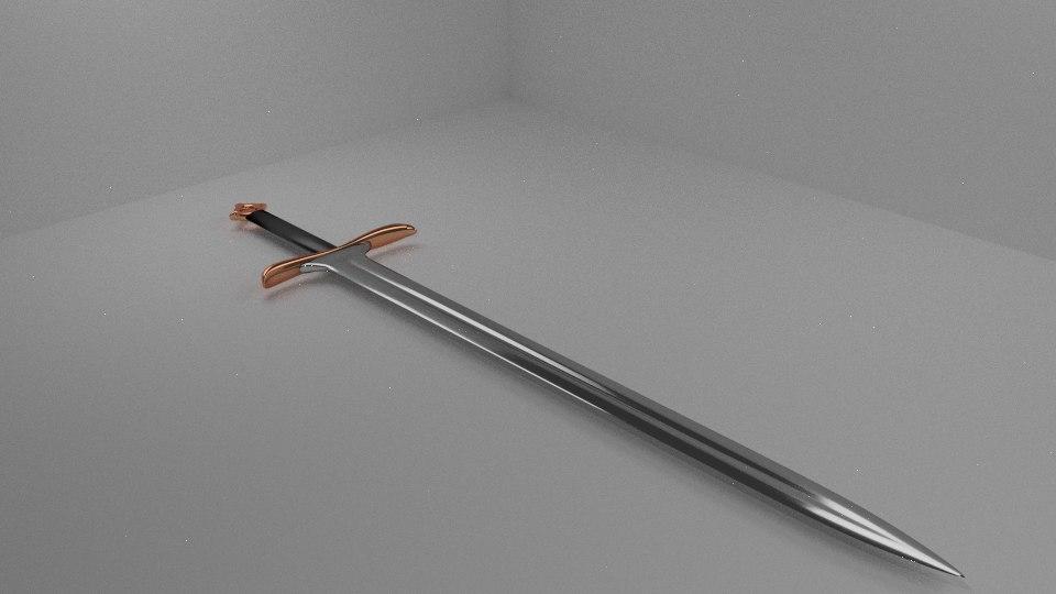3d model realistic sword