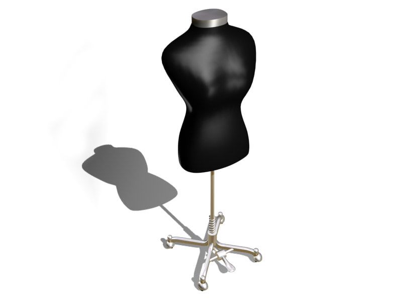 adjustable stand mannequin 3d model