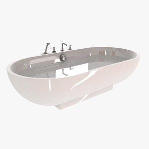 modern bath burgbad crono 3d model
