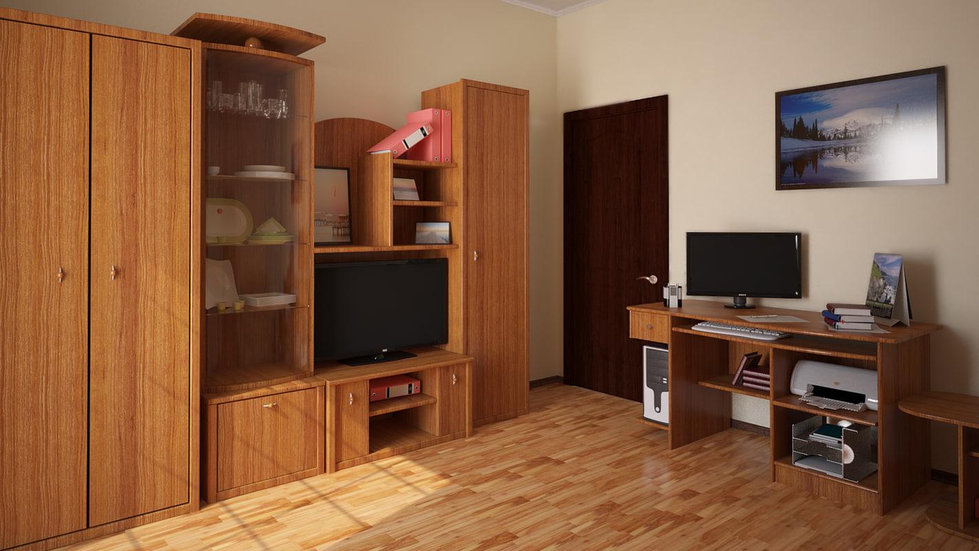 maya cupboard computer table