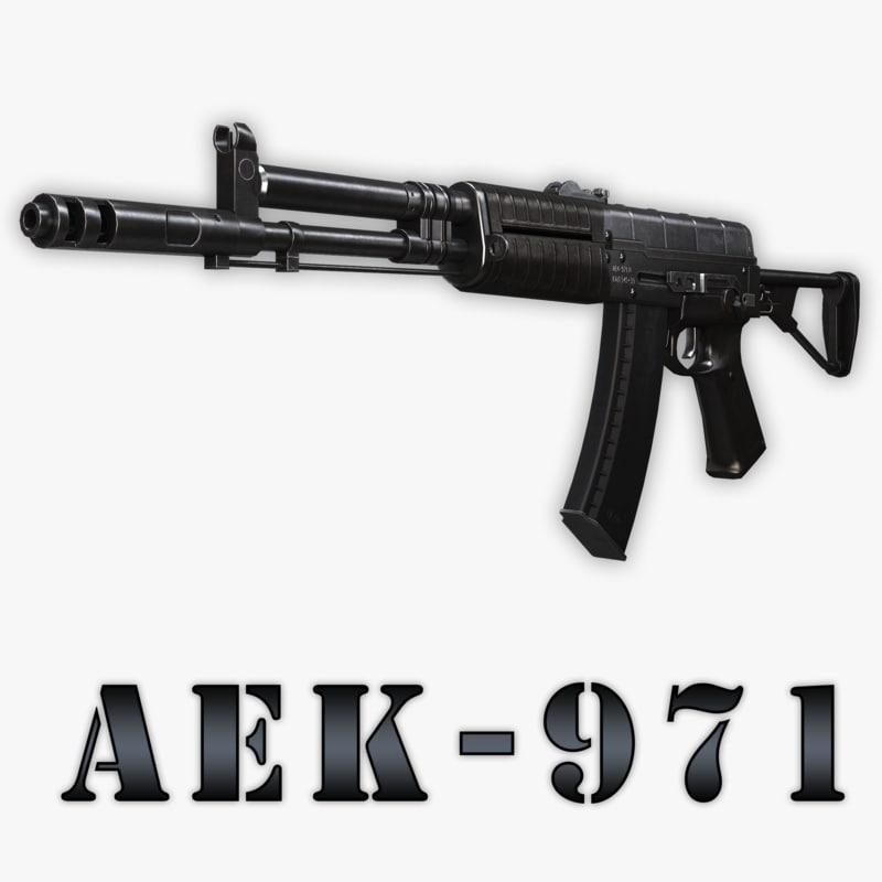 3d aek-971 assault rifle model