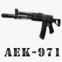 3d aek-971 assault rifle model