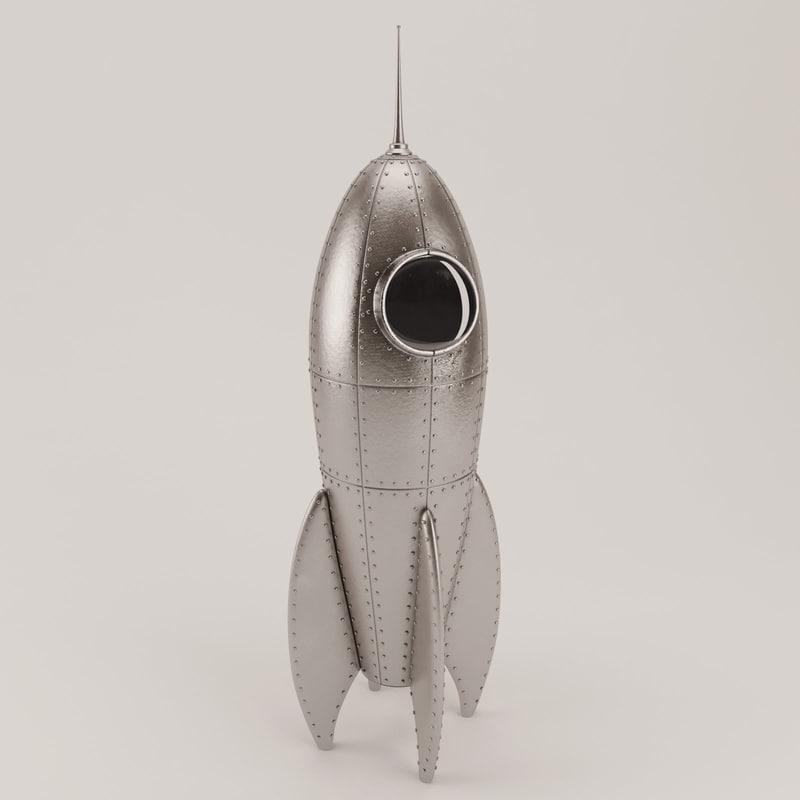 rocket spaceship 3d model