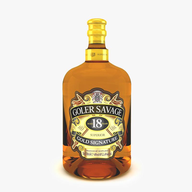 3ds bottle alcohol