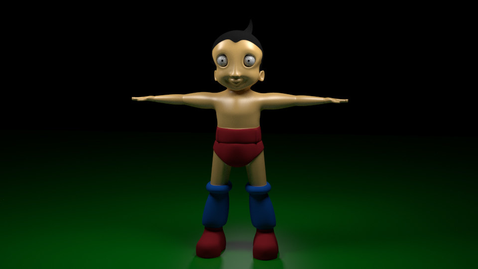 astroboy cartoon 3d obj