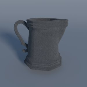 pewter pitcher 3d model