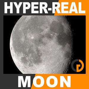 hyper-real dynamic moon shader 3d max