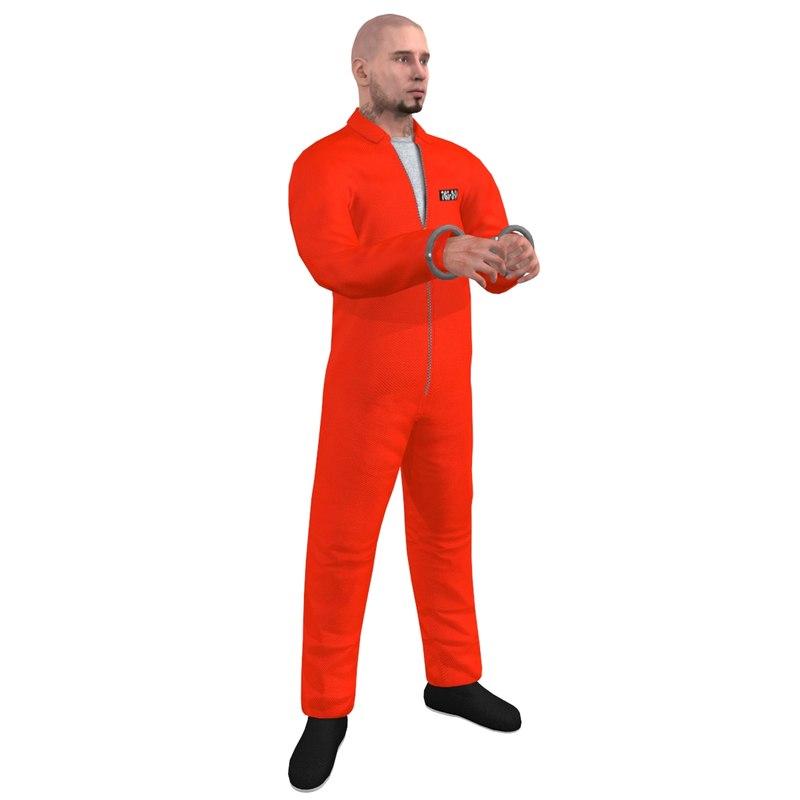 prisoner rigged 2 3d model