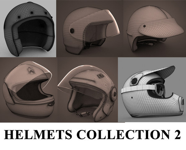 3d model motorbike helmets 2