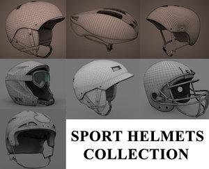 sport helmets 3d model