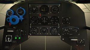 3d cockpit yakovlev yak-3 model
