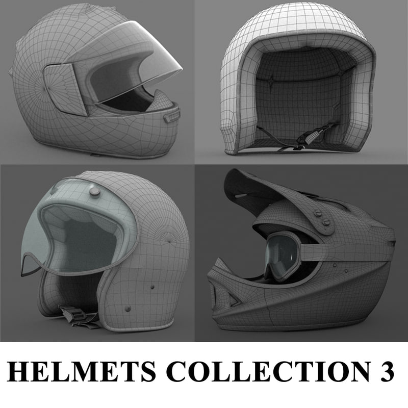 helmets 3 3d model