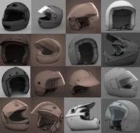 16 motorbike helmets
