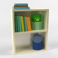 bookstand books 3d max