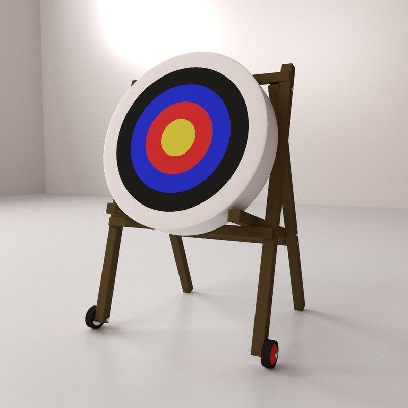 3d model archery target