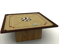 carrom karrom pocket 3d model