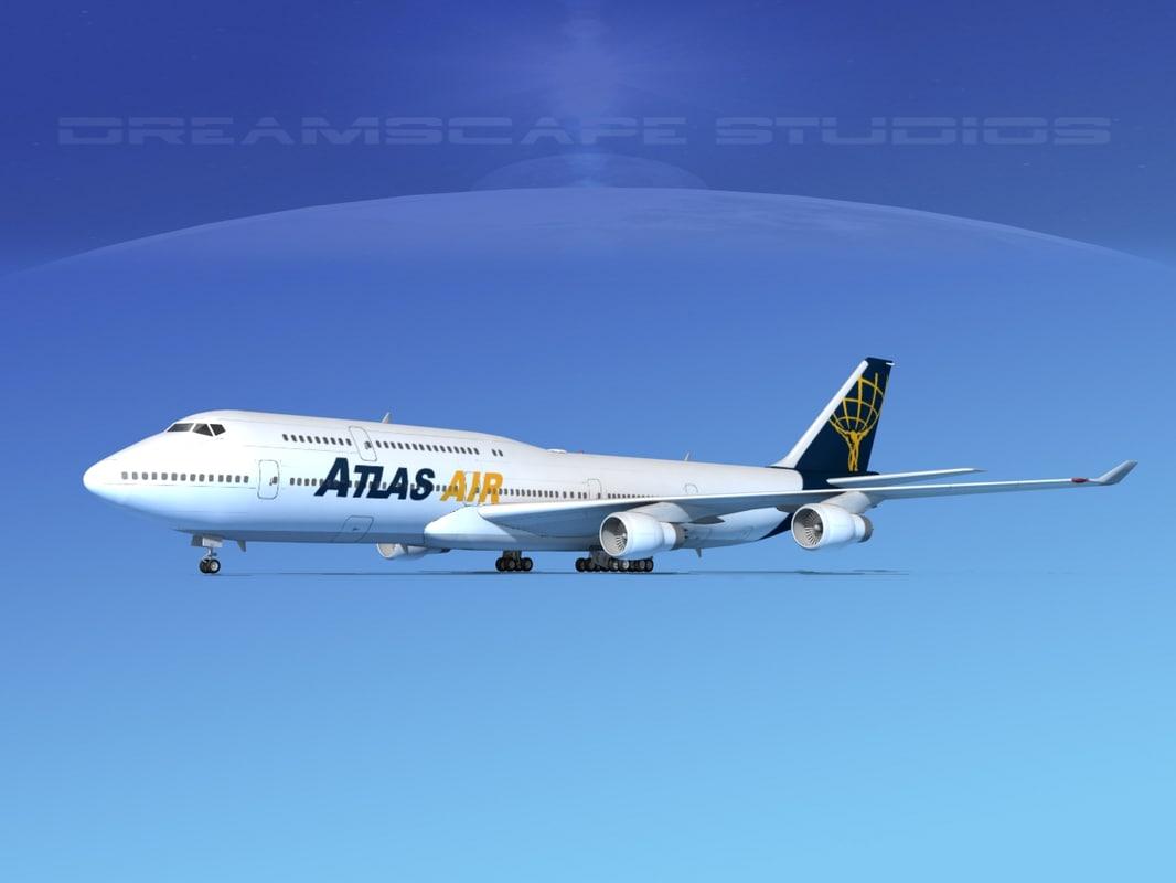 boeing 747 747-8 747-8i 3d max